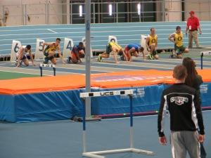 The 60 meter hurdles final