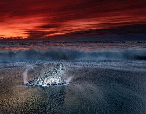 rock on beach