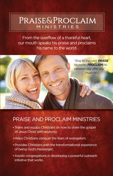 Introduction brochure to Praise and Proclaim Ministries