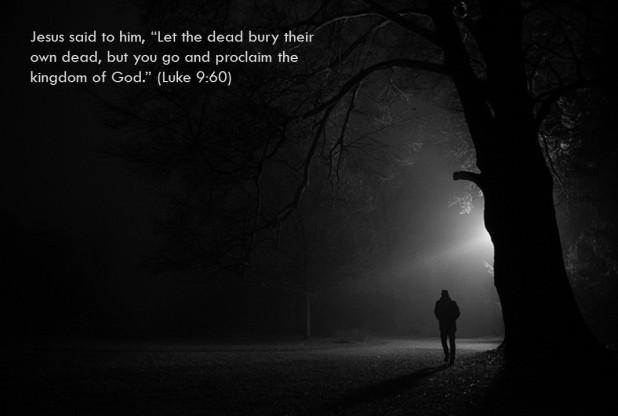 Luke 9 60